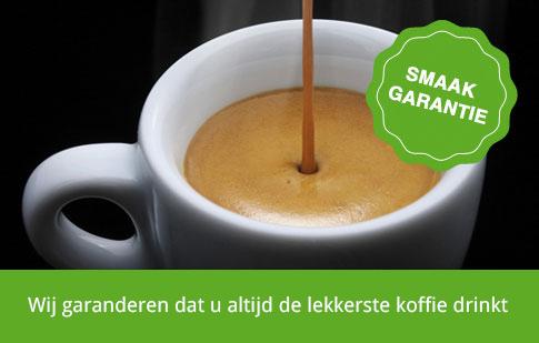 Koffie smaak garantie